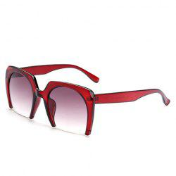 Chic Semi-Rimless Frame Sunglasses For Women -