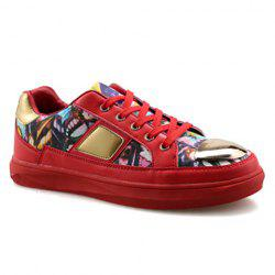 Fashionable Metal and Butterfly Pattern Design Casual Shoes For Men -