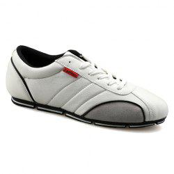 Trendy Round Toe and PU Leather Design Casual Shoes For Men -