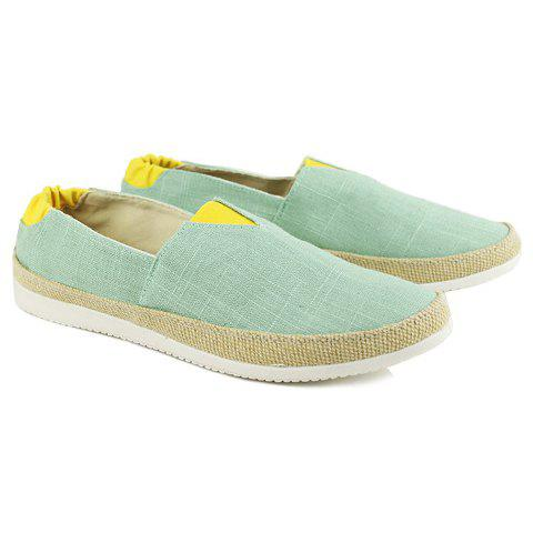 Color Block Slip on Canvas Sneakers