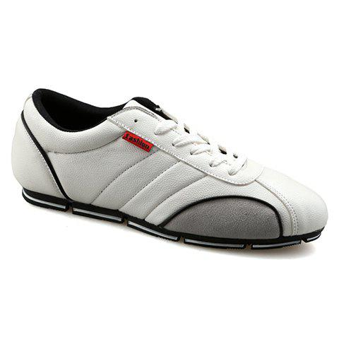 Fancy Trendy Round Toe and PU Leather Design Casual Shoes For Men