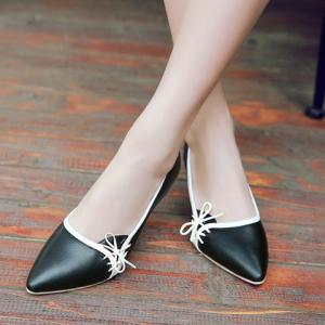 Ladylike Pointed Toe and Cross Straps Design Pumps For Women - BLACK 39
