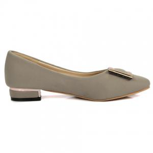 Leisure Metal and Cloth Design Flat Shoes For Women -