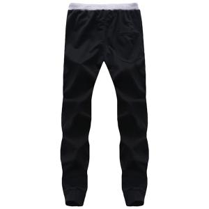 Lace Up Flag Printed Long Sports Pants For Men -