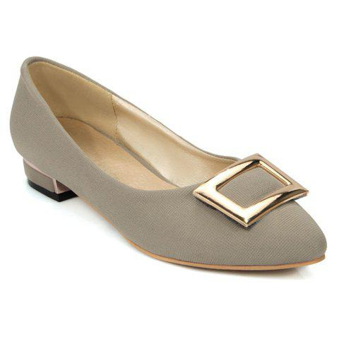 Outfit Leisure Metal and Cloth Design Flat Shoes For Women