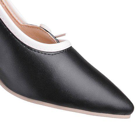 Fancy Ladylike Pointed Toe and Cross Straps Design Pumps For Women - 36 BLACK Mobile