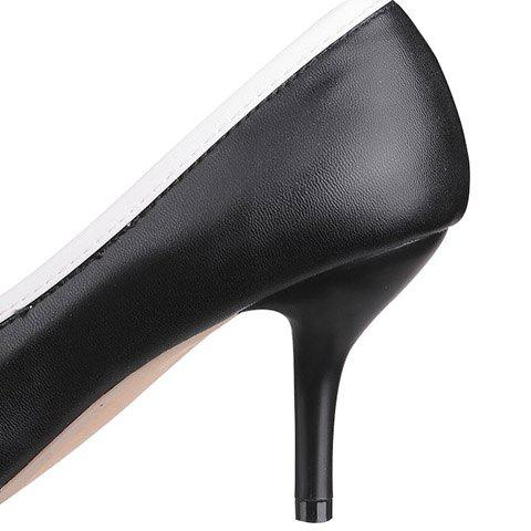Hot Ladylike Pointed Toe and Cross Straps Design Pumps For Women - 38 BLACK Mobile