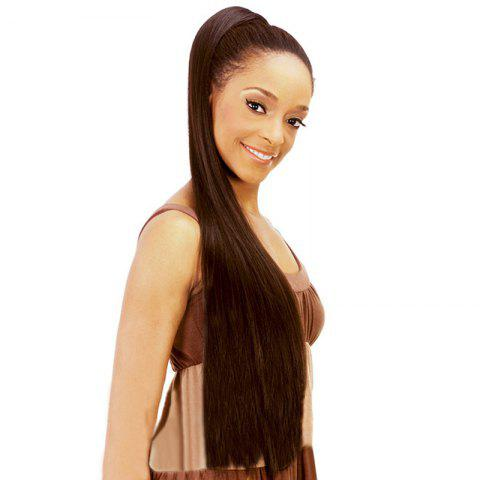 Buy Graceful Extra Long Dark Brown Vogue Silky Straight Synthetic Drawstring Ponytail For Women