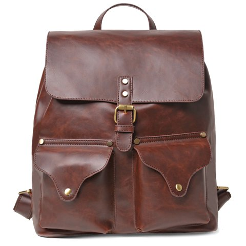 Pin Buckle Design Backpack For Men