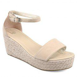 Fashionable Wedge Heel and Suede Design Sandals For Women -