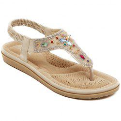Bohemian Rhinestones and Flip Flop Design Sandals For Women -