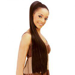 Graceful Extra Long Dark Brown Vogue Silky Straight Synthetic Drawstring Ponytail For Women -