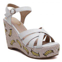Trendy Platform and Embroidery Design Sandals For Women -
