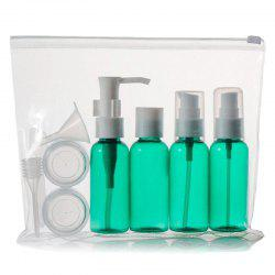 Stylish 9 PCS/Set Spray Bottle Latex Bottle Cream Jars Travel Split Charging Containers -