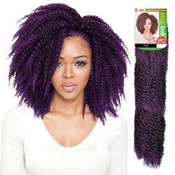 3PCS Stunning Short Heat Resistant Fiber Shaggy Afro Curly Braiding Hair Extension For Women - BLACK AND PURPLE