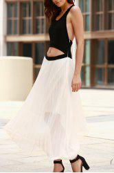 Two Tone Cut Out Maxi Dress