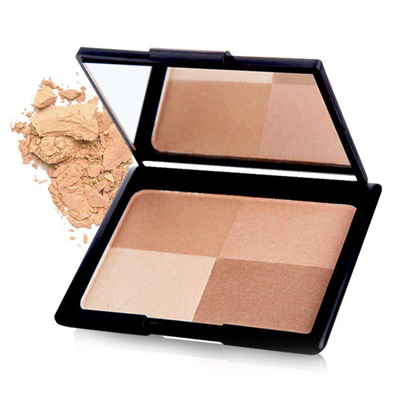 Fancy Stylish 4 Colours Highlight Bright Shadow Pressed Powder Palette with Mirror