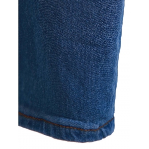 High-Waisted Zipper Embellished Slimming Pencil Jeans For Women - BLUE M