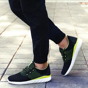 Simple Color Matching and Lace-Up Design Sneakers For Men -