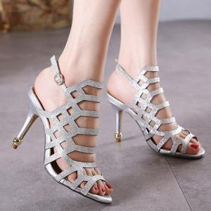 Fashionable Solid Colour and Stiletto Heel Design Sandals For Women -