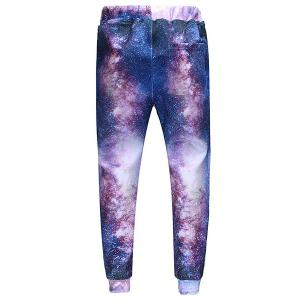 Men's Sports Style Triangle Tiger Printed Lace Up Narrow Feet Jogging Pants -