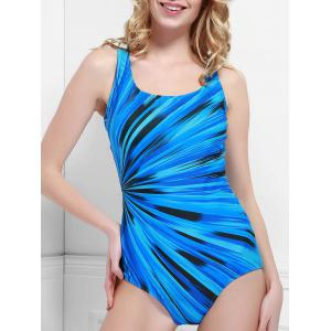 Chic U Neck Printed One-Piece Women's Swimwear