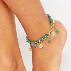 Chic Bohemia Turquoise Flower Anklet For Women -