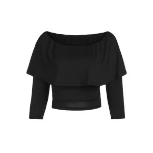 Stylish Off The Shoulder Flouncing Cropped T-Shirt For Women