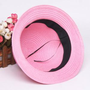 Fashionable Bowknot Embellished Solid Color Straw Hat For Children -