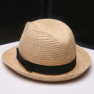Fashionable Solid Color Bowknot Embellished Straw Hat For Women -
