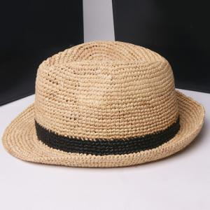 Fashionable Folding Hand Made Weave Straw Hat For Women -