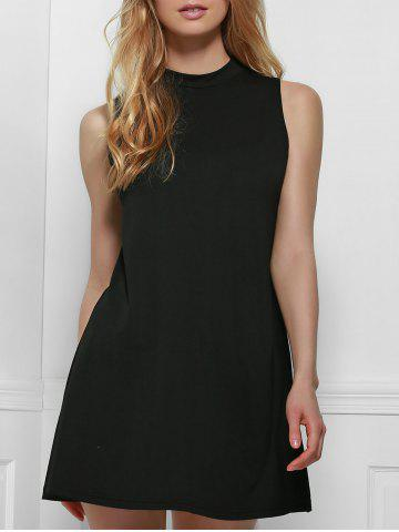Buy Simple Style Stand Collar Solid Color Tank Top Dress For Women