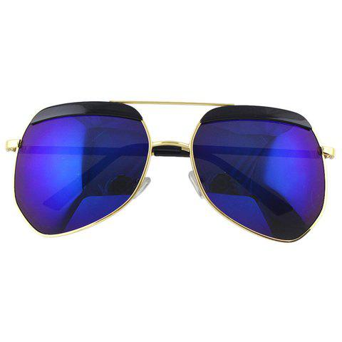 Hot Chic Bar Embellished Metal Frame Sunglasses For Women