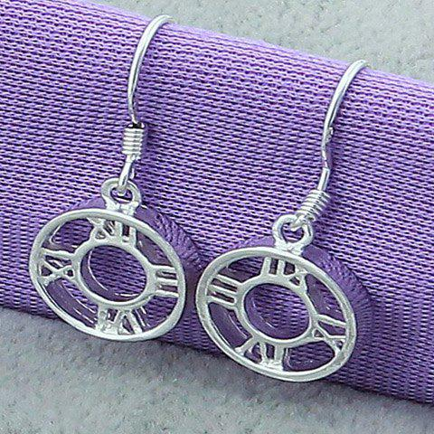 Best Pair of Round Roman Numerals Drop Earrings