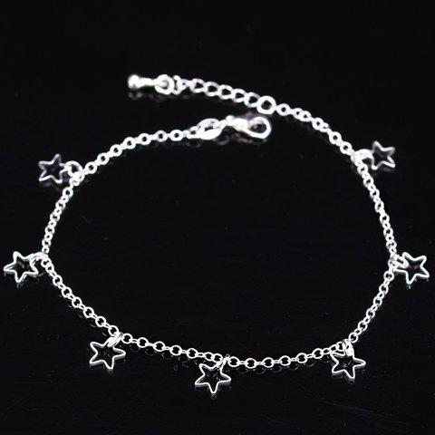Hot Pentagram Charm Anklet -   Mobile