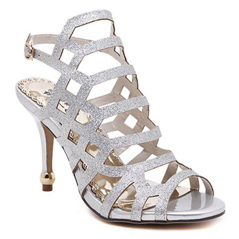 Affordable Fashionable Solid Colour and Stiletto Heel Design Sandals For Women