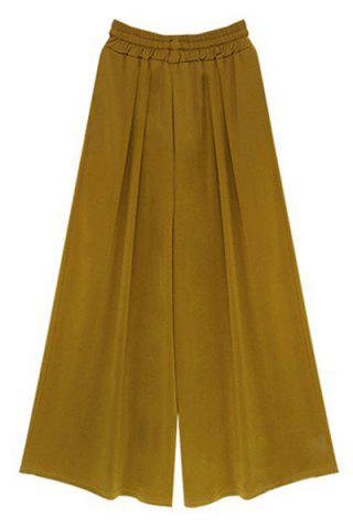 Fancy High-Waisted Plus Size Wide Leg Palazzo Pants - 5XL GINGER Mobile