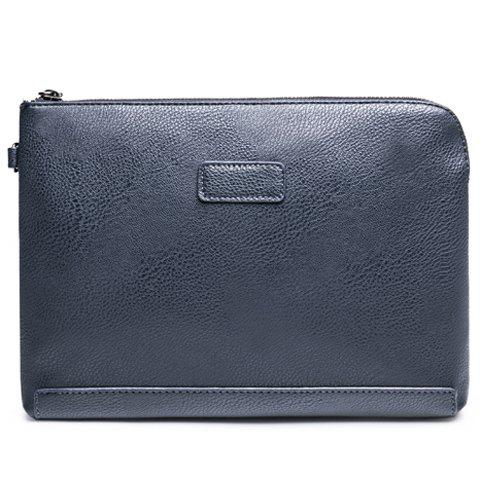 Shops Casual Solid Colour and PU Leather Design Clutch Bag For Men