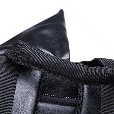 Outfit Trendy PU Leather and Colour Block Design Backpack For Men -   Mobile