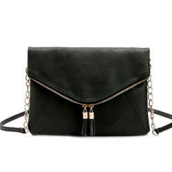Casual Tassels and PU Leather Design Shoulder Bag For Women -