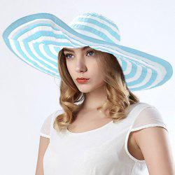 Fashionable Wide Brim Striped Pattern Sun Hat For Women -
