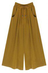 High-Waisted Plus Size Wide Leg Palazzo Pants - GINGER M