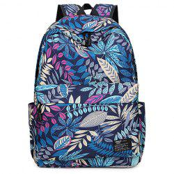 Leisure Zipper and Leaf Pattern Design Backpack For Men