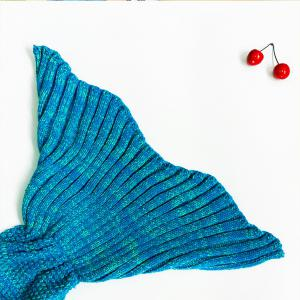 Knitted Mermaid Blanket - WATER BLUE ONE SIZE(FIT SIZE XS TO M)