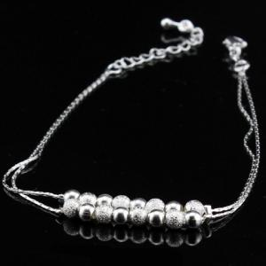 Double Layered Lucky Beaded Brighton Anklet -