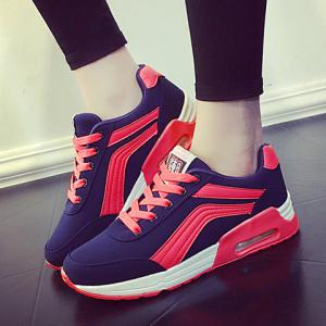 Casual Color Matching and Lace-Up Design Athletic Shoes For Women -