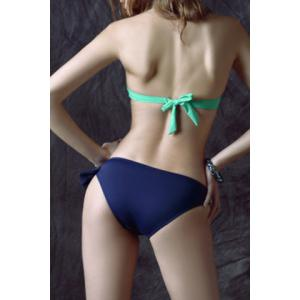 Sexy Halter Neck Backless Hollow Out Convertible Way Bikini Set For Women -