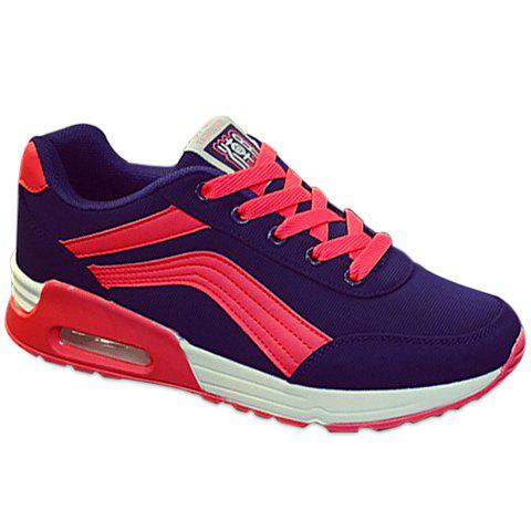 Sale Casual Color Matching and Lace-Up Design Athletic Shoes For Women
