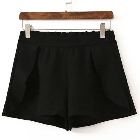 Shop Stylish High Waisted Solid Color Flounce Shorts For Women