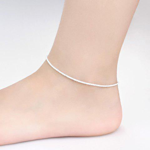 Unique Sweet Solid Color Anklet For Women - SILVER  Mobile